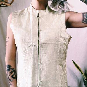 Vintage Eileen Fischer sleeveless blouse